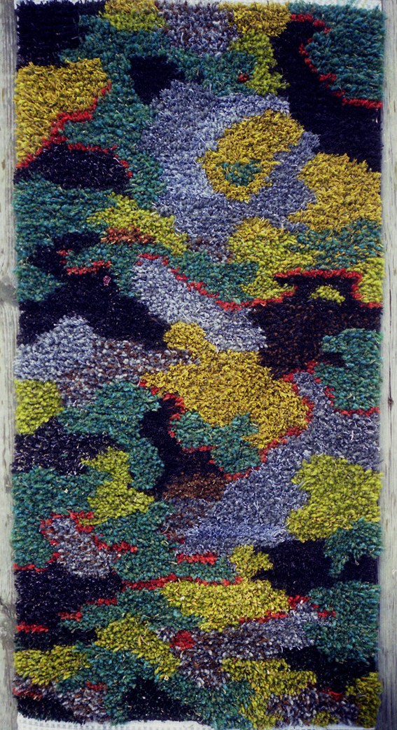 Prayer Camo Rug 70x120 cm ull, lin, silke 2008